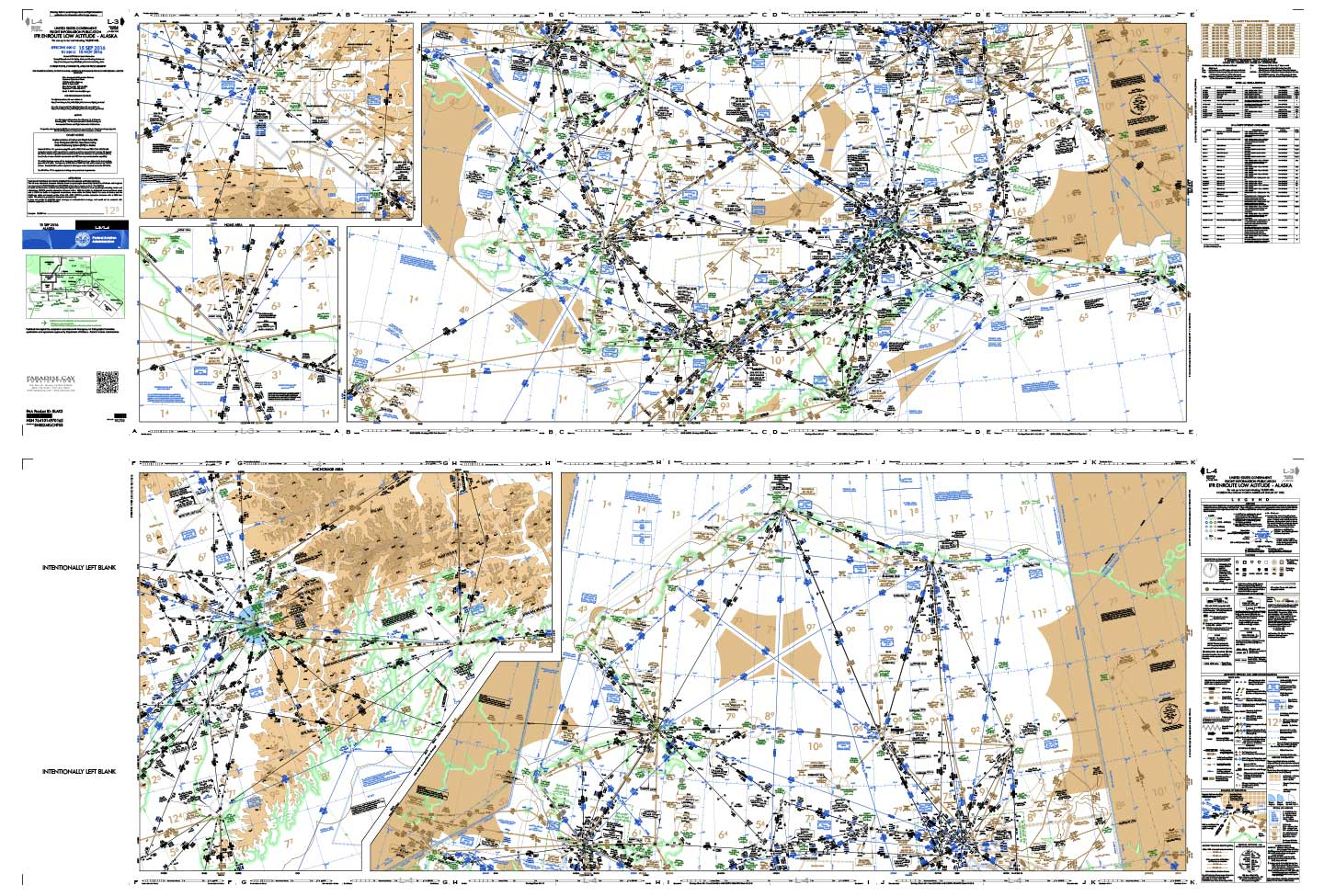 Enroute Charts, Enroute Charts Low Altitude (Folded)