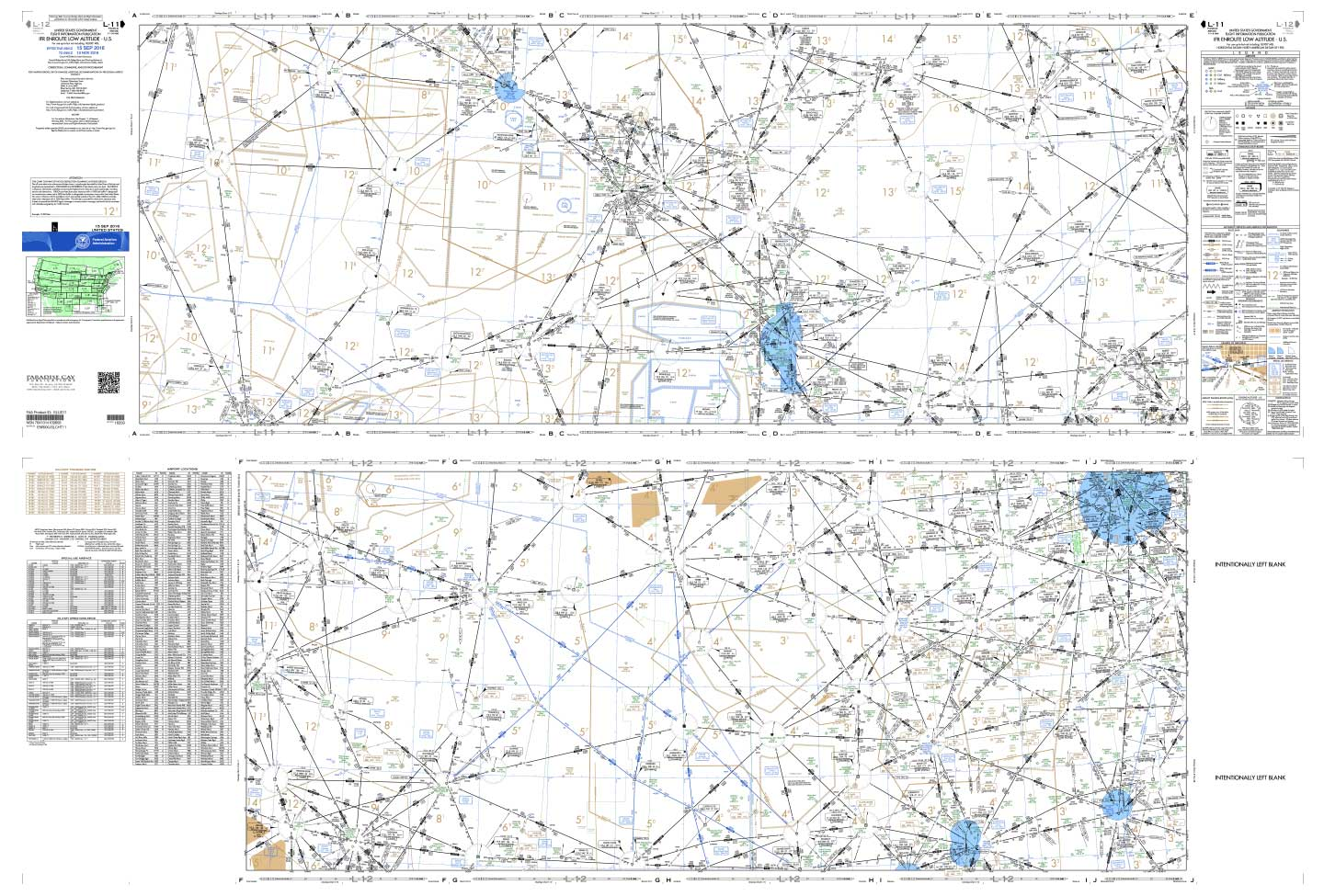 Enroute Charts, Enroute Charts Low Altitude (Rolled)